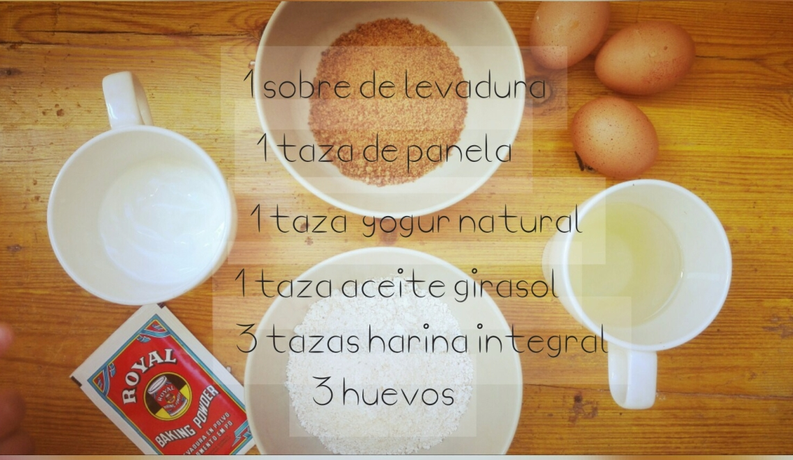 Ingredientes magdalenas